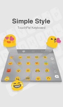 TouchPal IOS 11 Simple Style Theme تصوير الشاشة 4