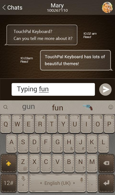 TouchPal Leather Theme for Android - APK Download