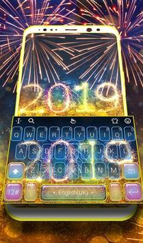 2019 Happy New Year Keyboard Theme poster