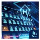 3D Blue Neon Future Keyboard Theme APK