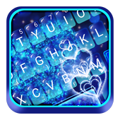 Blue Sparkling Heart Keyboard Theme icon