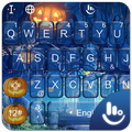 Blue Halloween Keyboard Theme