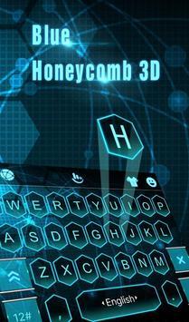 Blue Honeycomb 3D plakat