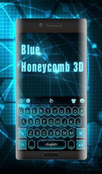 Blue Honeycomb 3D screenshot 1