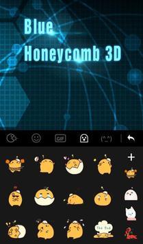Blue Honeycomb 3D screenshot 2