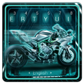 Neon Color Motorcycle Keyboard Theme