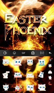 Easter Phoenix Keyboard Theme capture d'écran 4