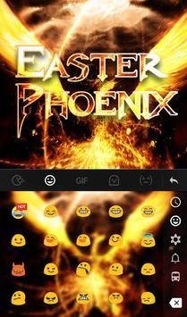 Easter Phoenix Keyboard Theme screenshot 2