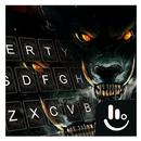 Fire Dire Wolf Keyboard Theme APK