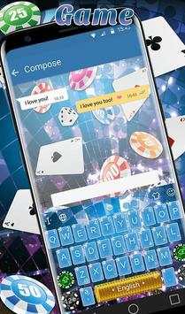 Playing Cards Game Keyboard Theme स्क्रीनशॉट 1