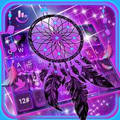 Purple Galaxy Dream Catcher Keyboard Theme icon