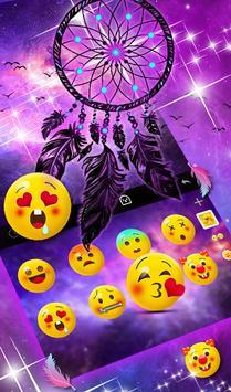 Purple Galaxy Dream Catcher Keyboard Theme screenshot 3