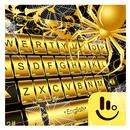 Gold Spider Knight Keyboard Theme APK
