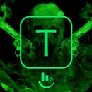 Green Skull Gun Keyboard Theme APK
