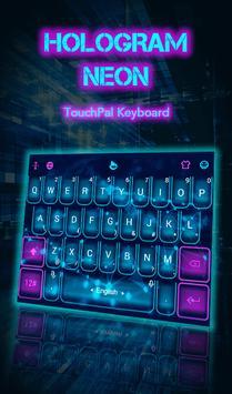 Hologram Neon poster