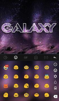Fantasy Galaxy Keyboard Theme screenshot 2