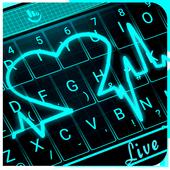 Live Neon Heart أيقونة