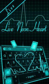 Live Neon Heart الملصق