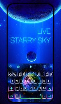 Live Starry Sky Keyboard Theme poster