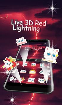Live 3D Red Lightning Keyboard Theme screenshot 4