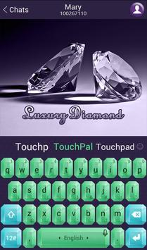 TouchPal Luxury Diamond Theme screenshot 3