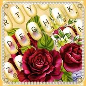Luxury Rose Diamond Keyboard Theme icon