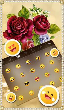 Luxury Rose Diamond Keyboard Theme screenshot 4