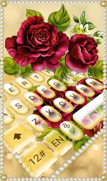 Luxury Rose Diamond Keyboard Theme poster