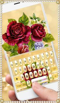 Luxury Rose Diamond Keyboard Theme screenshot 1