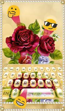 Luxury Rose Diamond Keyboard Theme screenshot 2