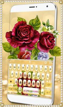 Luxury Rose Diamond Keyboard Theme screenshot 3