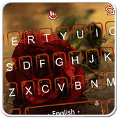 3D Live Rose Rainy Day Keyboard Theme icon