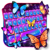 Swell Colorful Neon Butterfly Keyboard icon