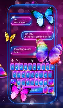 Swell Colorful Neon Butterfly Keyboard screenshot 1