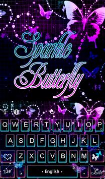 Sparkling Butterfly Keyboard poster