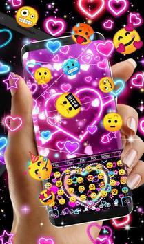 Neon Hearts Keyboard Theme screenshot 3