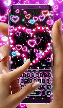 Neon Hearts Keyboard Theme screenshot 2