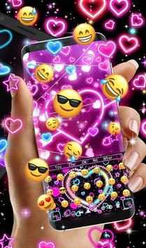 Neon Hearts Keyboard Theme screenshot 4