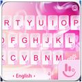 Pink Love Heart Keyboard Theme