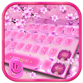 Pink Cherry Blossom Keyboard Theme