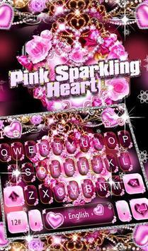 Pink Sparkling Heart poster