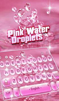 Pink Water Droplets poster