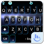 Live Purple lightning Keyboard Theme icon