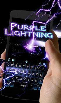 Live Purple lightning Keyboard Theme poster