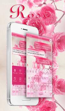 Pink Rose Keyboard Theme poster