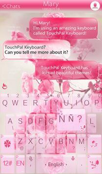 Pink Rose Keyboard Theme screenshot 2