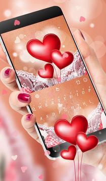Romantic Love Heart  Keyboard Theme screenshot 1
