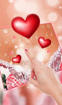 Romantic Love Heart  Keyboard Theme screenshot 2