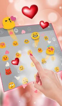 Romantic Love Heart  Keyboard Theme screenshot 3
