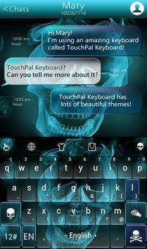 Hell Skull Fire Keyboard Theme screenshot 1